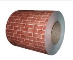 Brick pattern coated steel plate