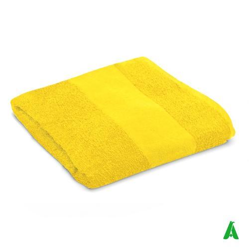 Teli e asciugamani in spugna, personalizzati con ricamo