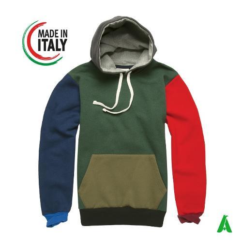 Felpa cappuccio unisex made in Italy art.IT475