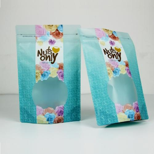 Food packaging pouch with zipper