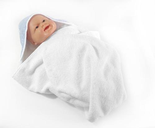 Toalha com capuz para bebé