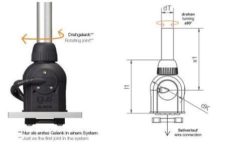 robolink® joint  optional with angle sensors