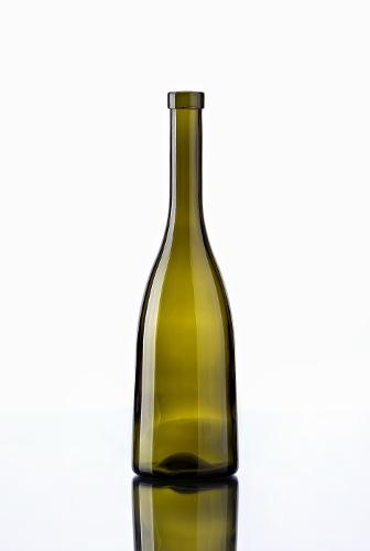 Bottle of coloured glass 75 cl
