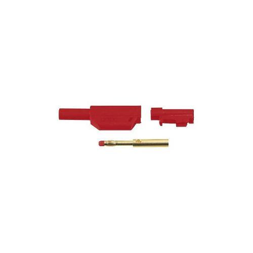 Fiche Banane 4mm Ip2x Rouge