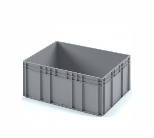 Plastic crate 800х600х320 (ЕС-8632) with reinforced bottom