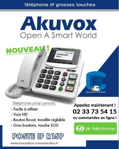 Téléphone sénior R15P AKUVOX