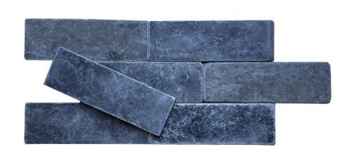 """3""""X9"""" Black Marble Tumbled Tile"""