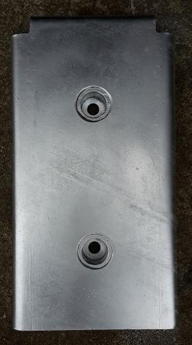 Osłona stalowa na odbój gumowy