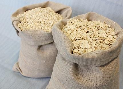 резаные и цельные хлопья из овса, ячменя, пшеницы, ржи