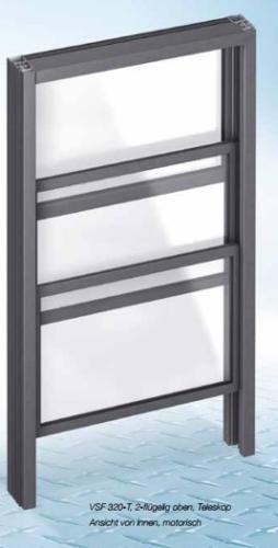Schiebefenster- Vertikal Ungedämmt