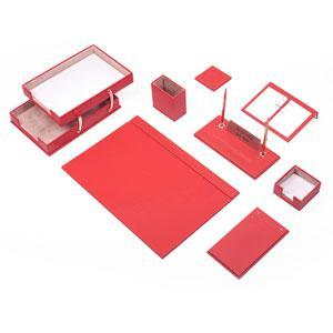 Leather Desk Set 10 Pieces