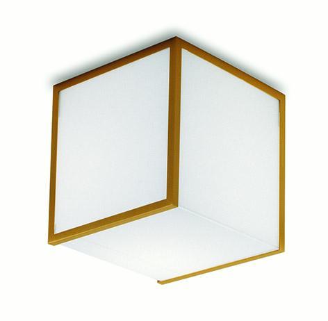Glass cube ceiling light