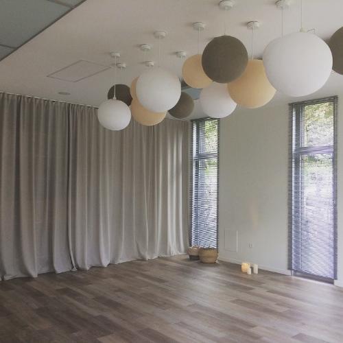 Décoration textile salles de yoga