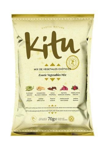 Mix de Vegetales Exóticos 70g. Kitu Snack.