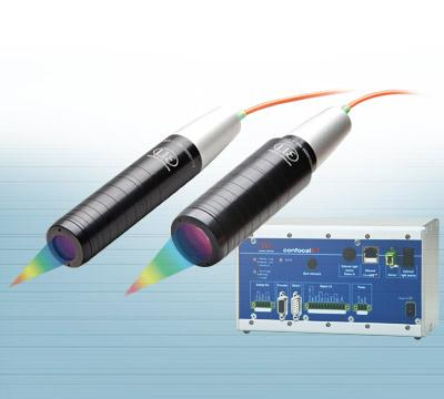 Confocal sensors for displacement, position, thickness