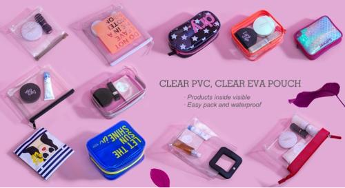 clear PVC, EVA pouch collection