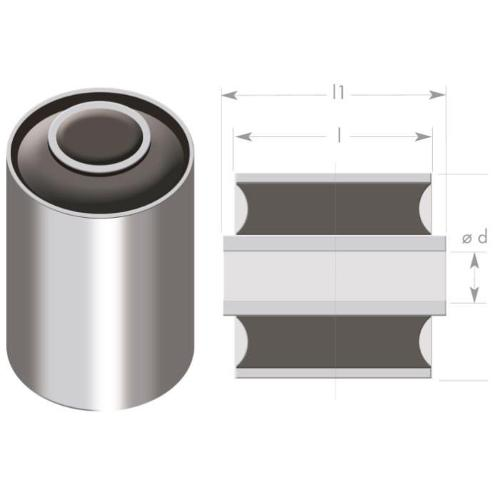 rubber metal bushings