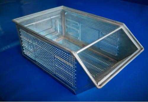 Perforated Semi-open front sheet steel storage boxes