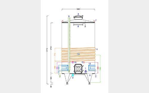 304 Stainless Steel Tank - Stoipser7500 - 03/21-4