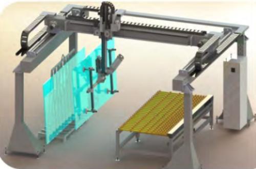 Automatischer Portal- Lader/Entlader von Glas