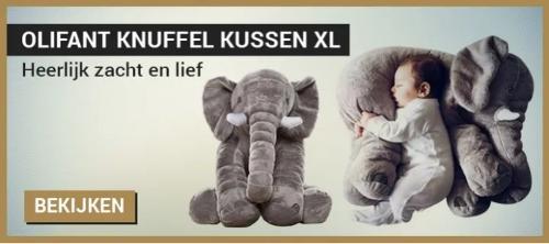 Olifant knuffel kussen XL