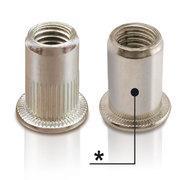 Inserti filettati cilindrici aperti testa cilindrica...