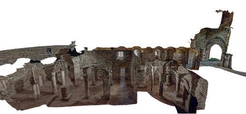 Visite virtuelle d'une crypte carolingienne en Bourgogne