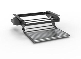 Electric single foldaway step