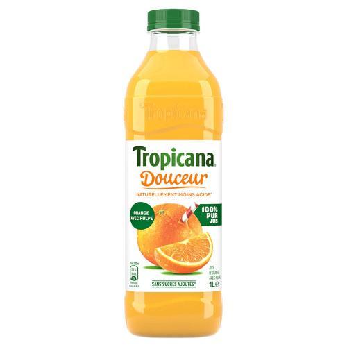 Jus d'orange avec pulpe douceur 1L - TROPICANA