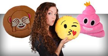 Emoticon Emoji-con Kissen