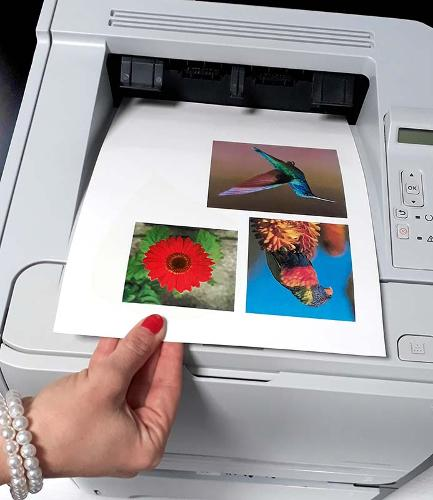 Transfer papers for laser printers
