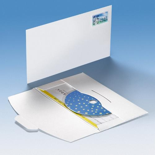 CD Mailer ohne Fenster - Steckverschluss