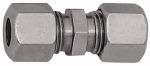 Straight fitting, Pipe exterior 22 mm, galvanised steel
