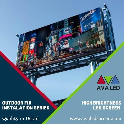 Écran LED d'annonces de rue