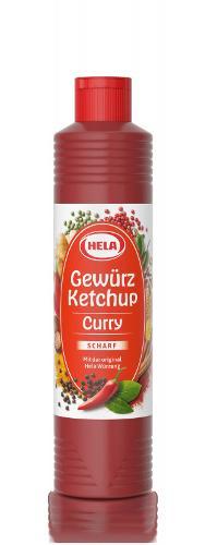 Hela Curry Gewürz Ketchup scharf, 800ml,Gluten & Laktosefrei