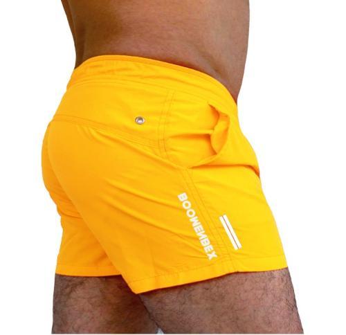 Boomenbex / Sarı erkek mayo şort,deniz şortu, plaj giyim