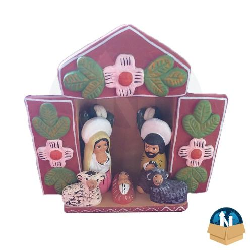 Nativity Altarpiece handmade in ceramic