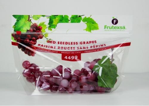 printed 1kg grape packaging with slider
