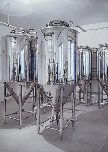Micro-brewery for production 340-470 liters of beer per day