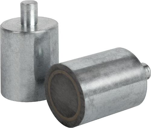 Магниты круглые с цапфой (магниты-прутки) альнико (AlNiCo)