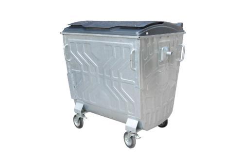 Евроконтейнер для сбора тверд. быт. отходов с пласт. крышкой