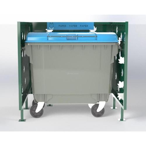 Cache Poubelle Conteneur Automne En U Recyclage Papier