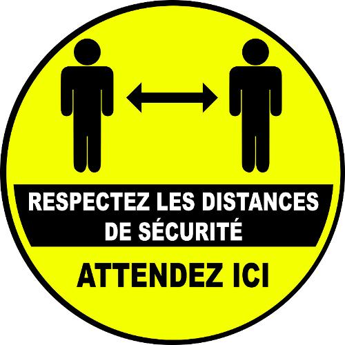 STICKERS RESPECT DISTANCES DE SÉCURITÉ