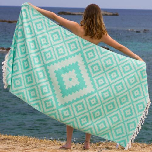 Hammam Towel Diamond Green Or Sea