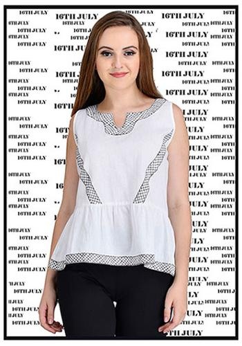 Ladies Linen embroidered blouse