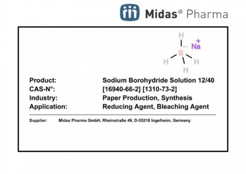 Sodium Borohydride Solution 12/40