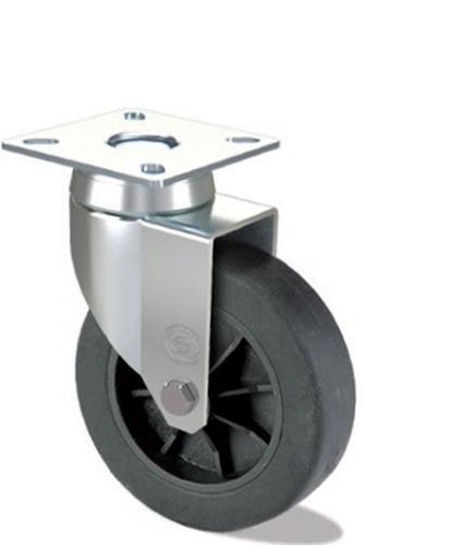 Rubber wheel with polypropylene centre