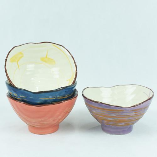 Customized cheap  ceramic bowl set