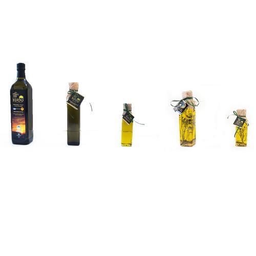 Extra Virgin Olive Oil in marasca bottles
