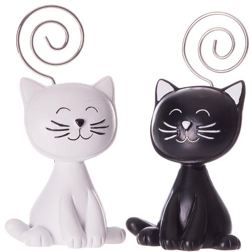 Cat black/white with photoholder
